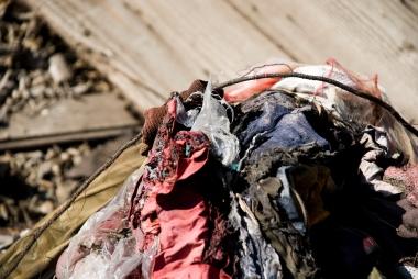 ripped dirty fabrics
