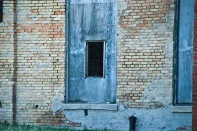 window with chicken wire