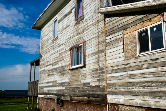 wood siding on a old house