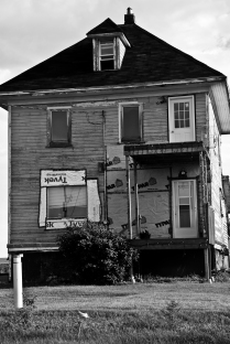 a three story house under renovation