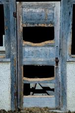 old broken door
