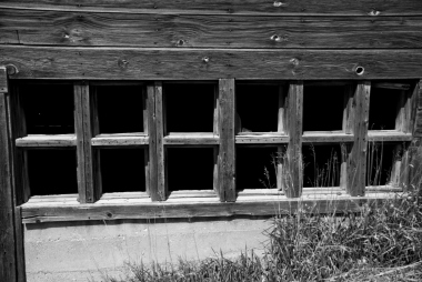 lines of square barn windows