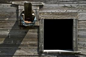 square barn window