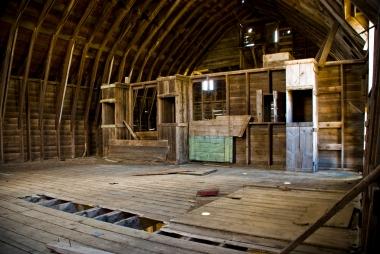 abandoned barn interior