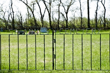 fence with name of cemetery - st anne's