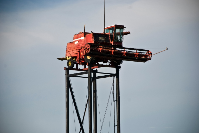 combine on top of tower