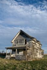 abandoned two-storey house