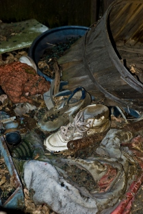 rotting shoes and clothing