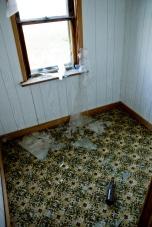 beer bottle, broken window, abandoned house