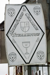 sign for the silver sword & chalice steakhouse