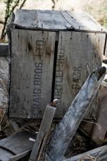 old wooden box that says craig bros ltd turtleford sask