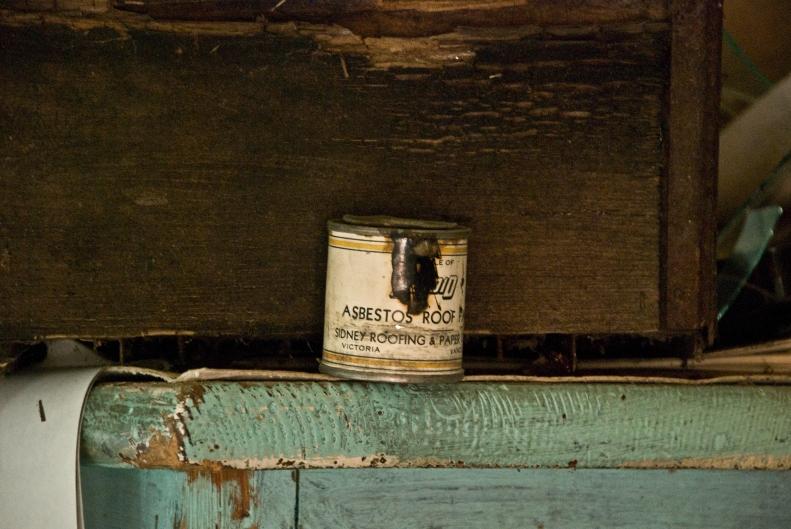 old can of asbestos roof repair