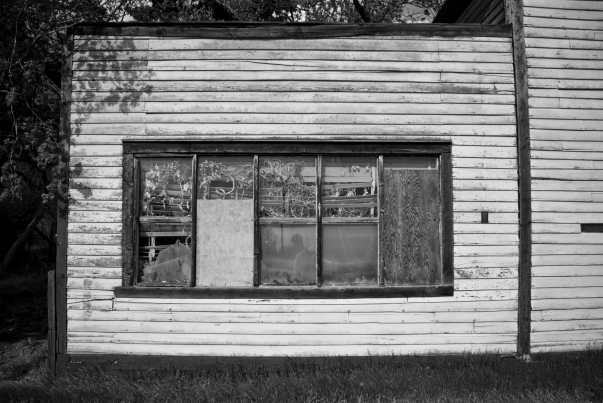 boarded up windows