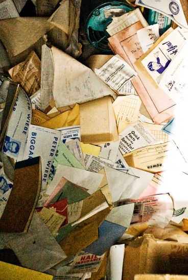 pile of old mail
