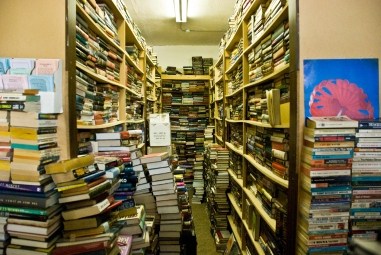 piles and shelves of books