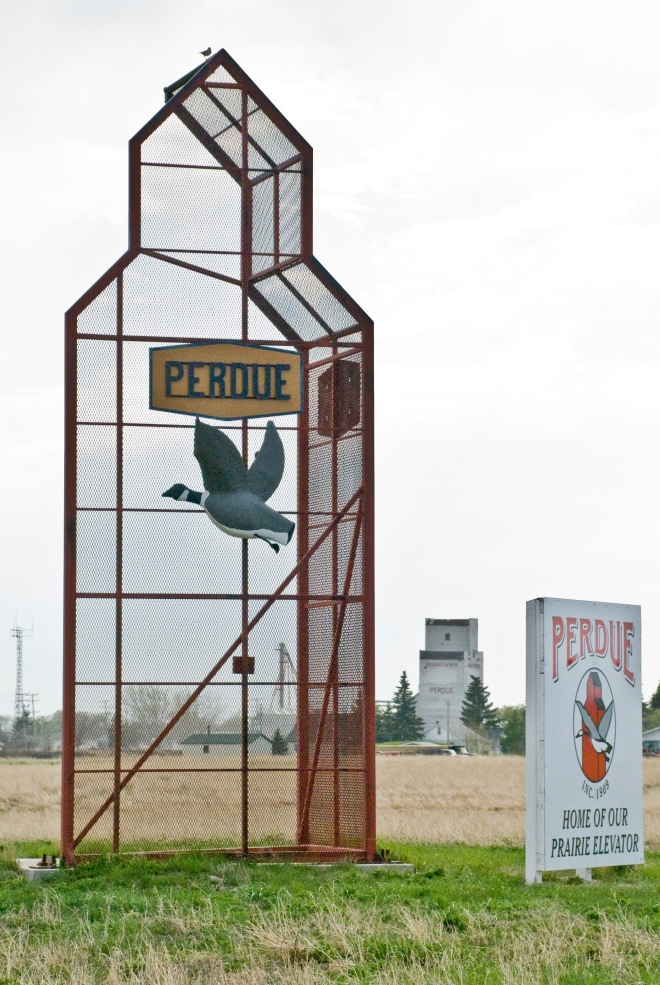 perdue sign and elevator