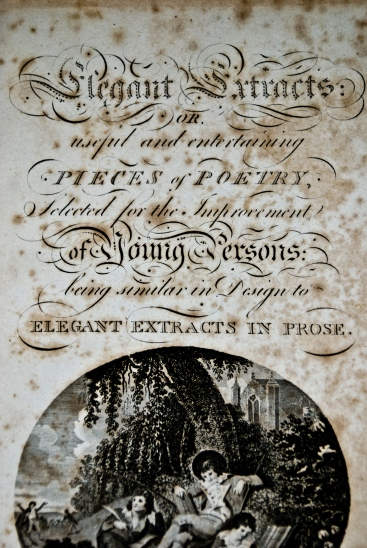 cover page of 200 year old poetry book