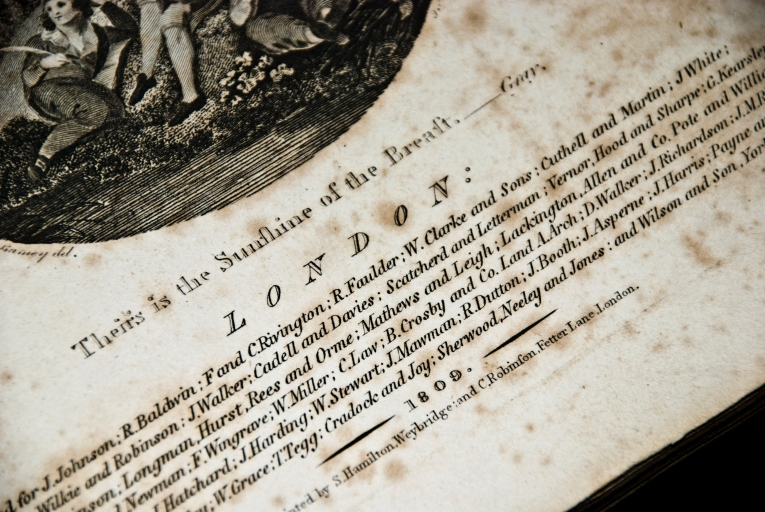information about 200 year old poetry book - dated 1809