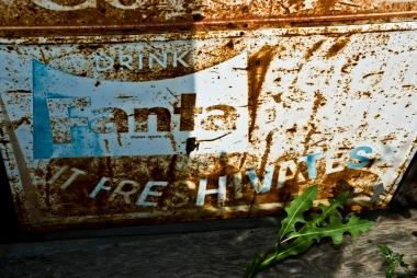 rusted fanta sign - it freshivates