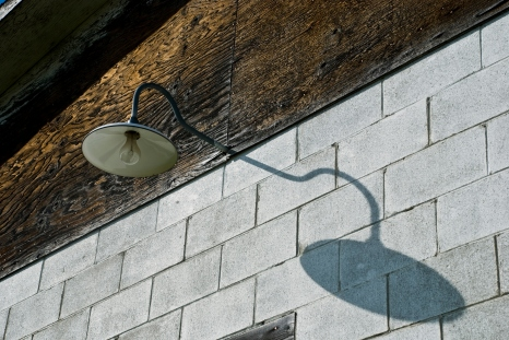 outdoor light fixture and shadow