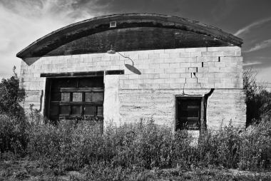 abandoned building with domed roof