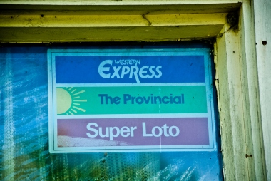 vintage lottery sticker - western express, the provincial, super loto