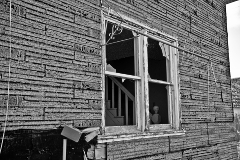window into an abandoned house