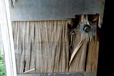 cracked wooden door