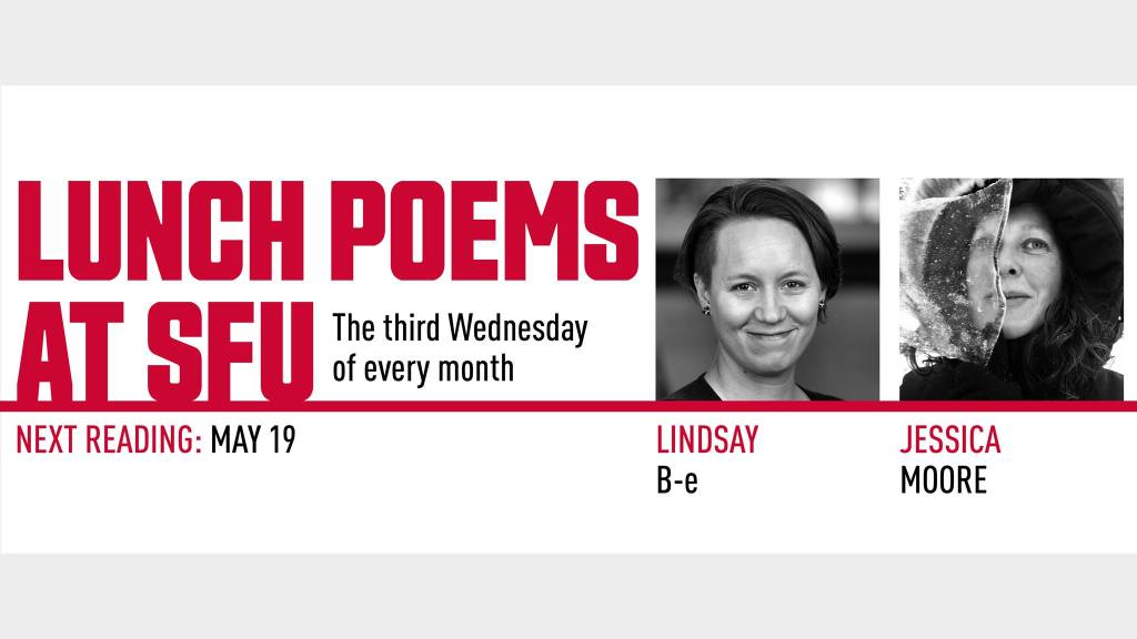 promo image for lunch poems at SFU event